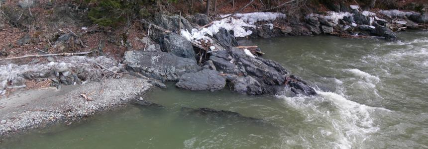 Chickley River in the winter