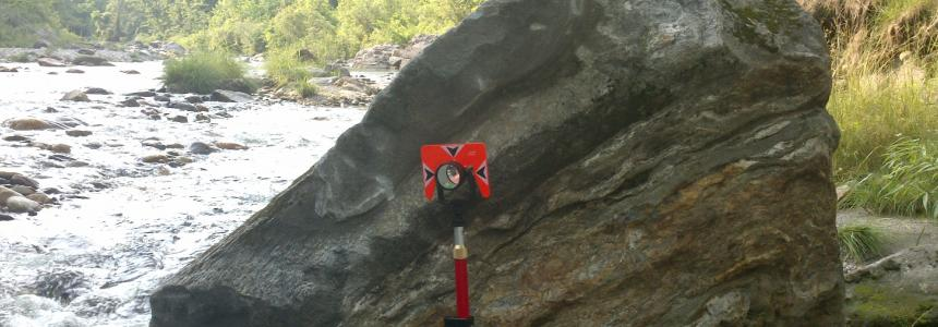 survey tool by river