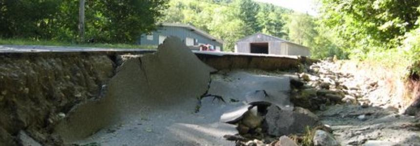 Road damage after Irene