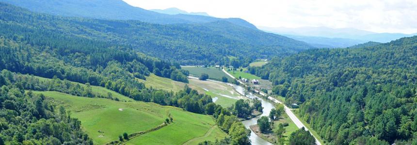Vermont river landscape