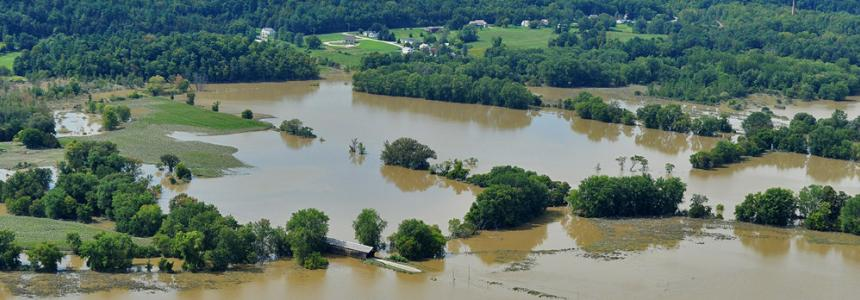 Photo of flooded land